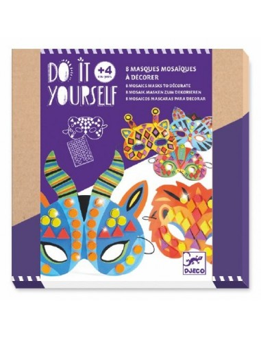 Masques mosaïques - Do it Yourself Djeco