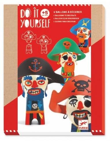 Ballons à décorer pirates rigolos -...