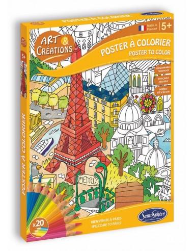 Poster à colorier Paris - Sentosphère