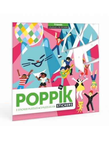 3 puzzles en stickers friends - Poppik