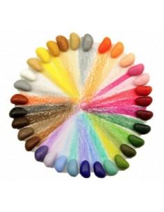 32 crayons en cire...