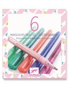 6 marqueurs pailletés sweet...