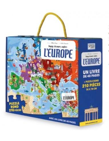 Coffret livre et puzzle L'Europe - Sassi