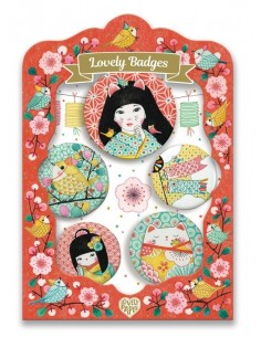 Lovely badges japon - Djeco