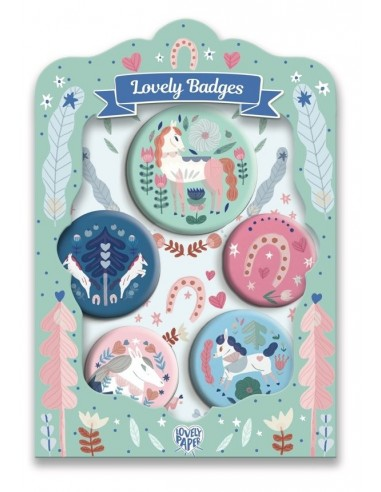 Lovely badges chevaux - Djeco