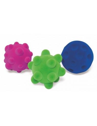 Set de 3 mini balles sensorielles -...