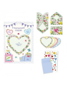 Cartes d'invitation Coeurs...