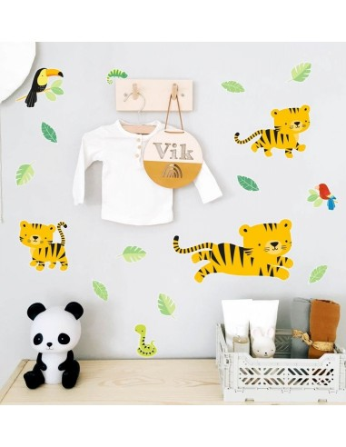 Stickers muraux tigre de la jungle -...
