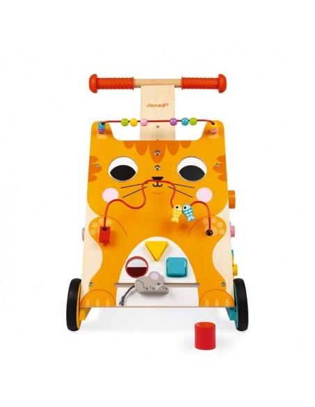 Chariot de marche chat multi activités - Janod