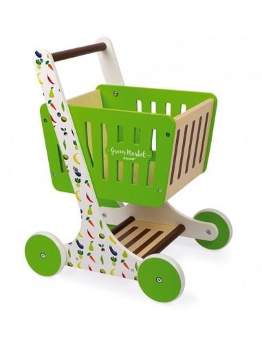 Chariot de courses en bois Green...