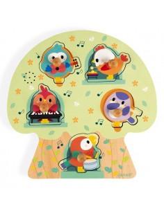 Puzzle musical les oiseaux...