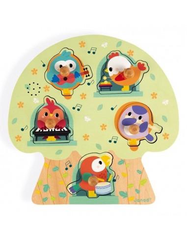 Puzzle musical les oiseaux en fête -...