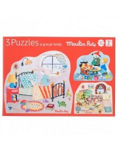 3 puzzles personnages La...