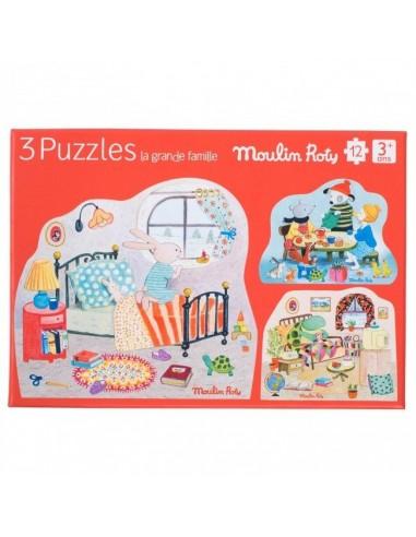 3 puzzles personnages La Grande...