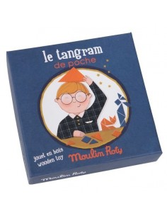Tangram de poche en bois -...