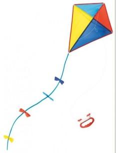 Cerf volant multicolore -...