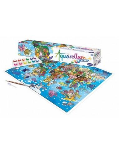 Aquarellum géant planisphère -...