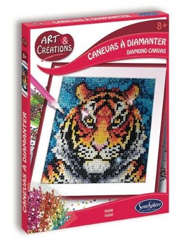 Canevas à diamanter tigre - Sentosphère