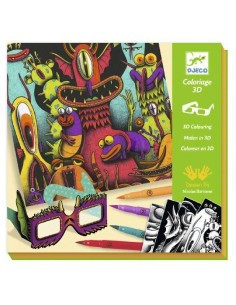Coloriage 3D funny freaks -...