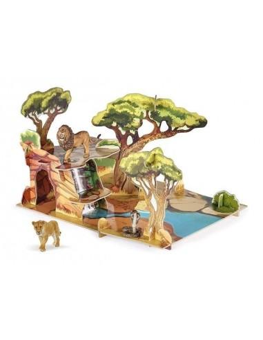 Coffret savane avec figurines - décor...