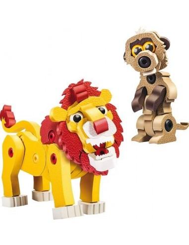 Lion et suricate - Bloco Animalia