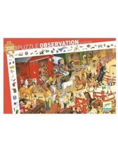 Puzzle d'observation équitation