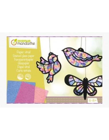 Boite créative papier vitrail -...