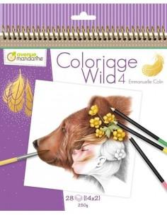Carnet de coloriage Wild 4...