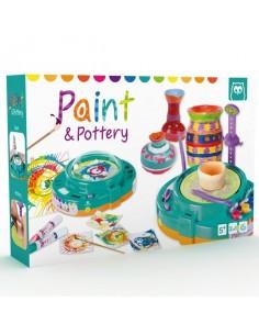 Coffret de peinture et poterie