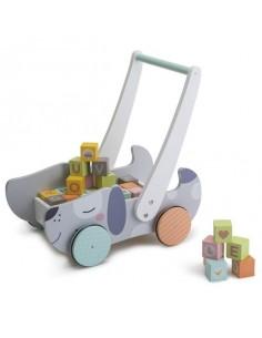 Chariot de marche avec cubes