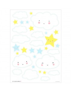 Stickers muraux nuage - A...