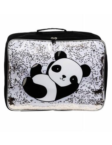 Valise panda avec paillettes - A...