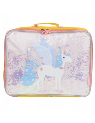 Valise licorne avec paillettes - A...