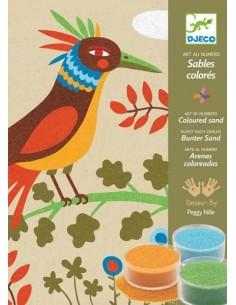 Sables colorés oiseau de...