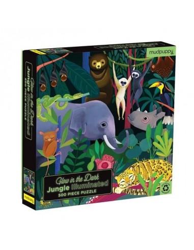 Puzzle phosphorescent jungle 500 pièces