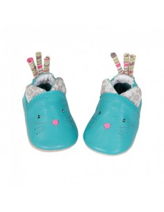 Chaussons cuir chat 6-12...