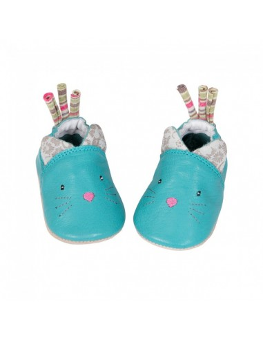 Chaussons cuir chat 6-12 mois Les...
