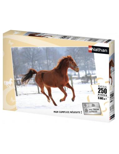 Puzzle 250 pièces cheval dans la...