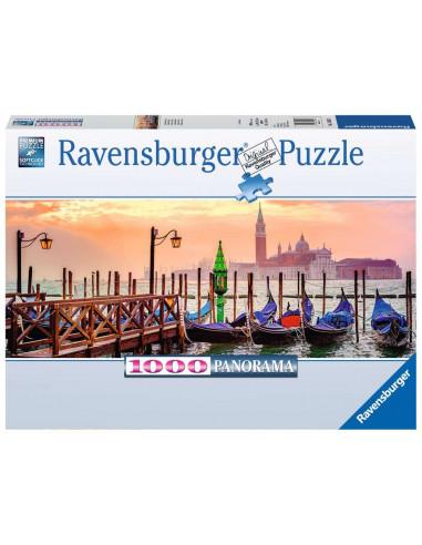 Puzzle 1000 pièces gondoles à Venise...