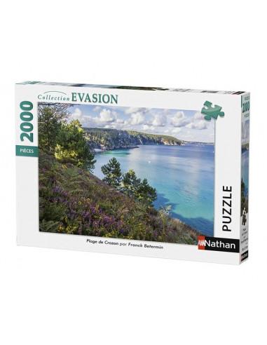 Puzzle 2000 pièces plage de Crozon -...