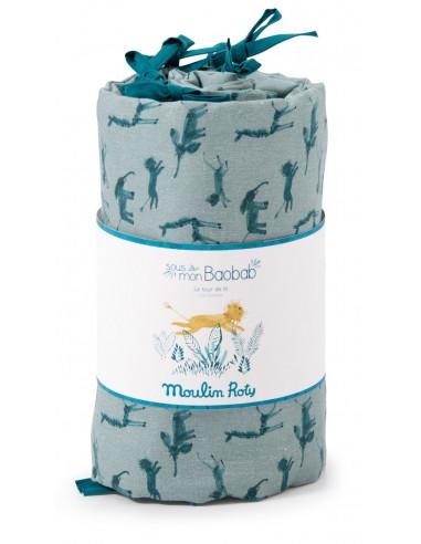 Tour de lit bleu Sous mon baobab -...