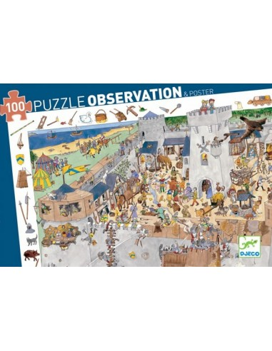 Puzzle d'observation Le chateau fort...