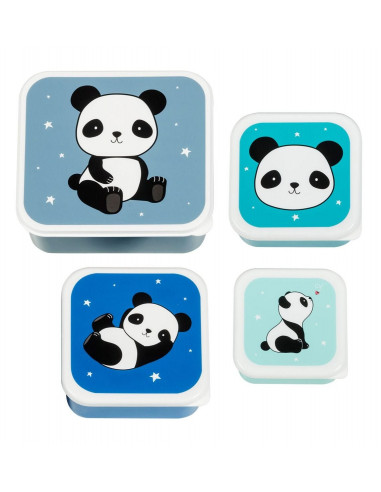 4 boites à goûter panda - A Little...