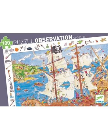 Puzzle d'observation Les pirates - Djeco