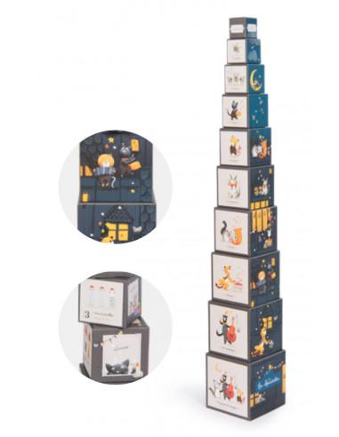 Cubes empilables Les moustaches -...