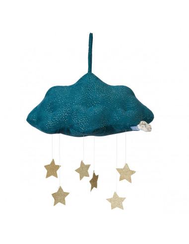 Mobile nuage bleu avec étoiles -...