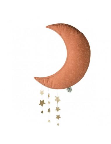 Mobile lune rose avec étoiles - Picca...