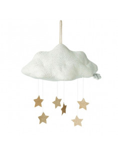 Mobile nuage blanc avec étoiles