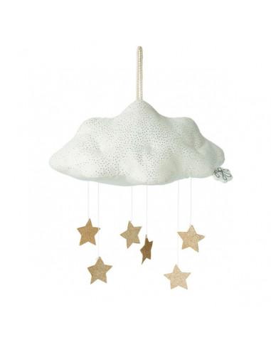 Mobile nuage blanc avec étoiles -...