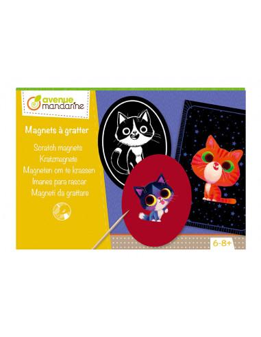 Magnets à gratter - Avenue mandarine